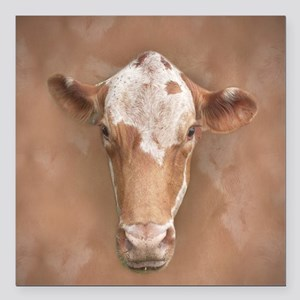"Holy Cow! Square Car Magnet 3"" x 3"""