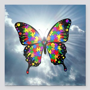 "autismbutterfly - sky 6i Square Car Magnet 3"" x 3"""