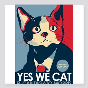 "Candigato - Yes We Cat Square Car Magnet 3"" x 3"""