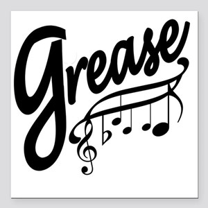 "grease for white t-shirt Square Car Magnet 3"" x 3"""