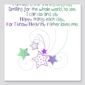 i know my Heavenly Father lov Square Car Magnet