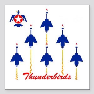 "Thunderbirds Square Car Magnet 3"" x 3"""