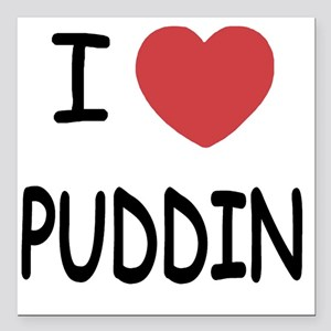 "PUDDIN Square Car Magnet 3"" x 3"""