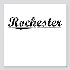 "Rochester, Vintage Square Car Magnet 3"" x 3"""
