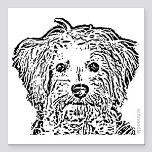 "Schnoodle_bw Square Car Magnet 3"" x 3"""