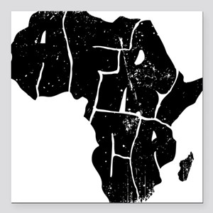 "Africa Undivided Square Car Magnet 3"" x 3"""