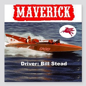 "2-00mav_pin Square Car Magnet 3"" x 3"""