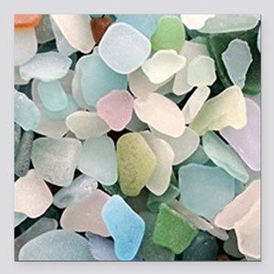 "Sea glass Square Car Magnet 3"" x 3"""