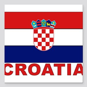 "croatia_b Square Car Magnet 3"" x 3"""