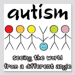 Autism Angle Square Car Magnet