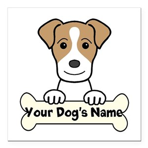 Personalized Jack Russel Square Car Magnet 3