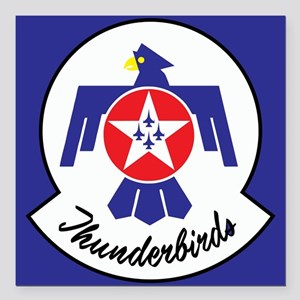 "U.S. Air Force Thunderbi Square Car Magnet 3"" x 3"""