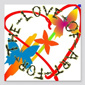 "For The Love Of Art Square Car Magnet 3"" x 3"""