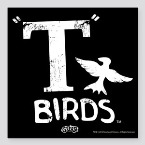"Grease - T Birds Square Car Magnet 3"" x 3"""