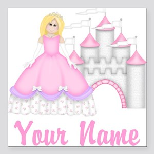"Princess Personalized Square Car Magnet 3"" x 3"""