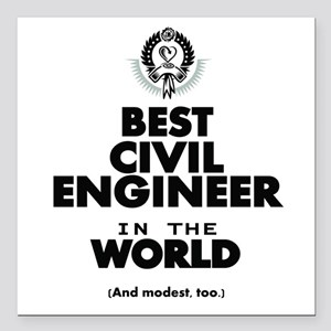 The Best in the World – Civil Engineer Square Car