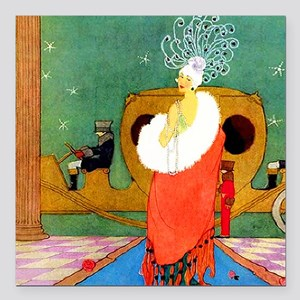"VOGUE - Glamor on the Re Square Car Magnet 3"" x 3"""