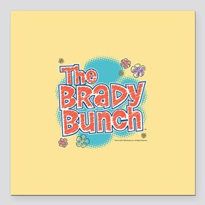 "The Brady Bunch Logo Square Car Magnet 3"" x 3"""