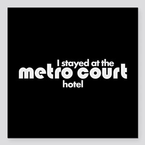 "Metro Court Square Car Magnet 3"" x 3"""