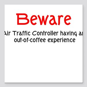 Air Traffice Controller Square Car Magnet