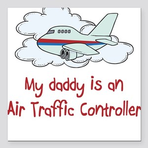 air Traffic Controller Square Car Magnet