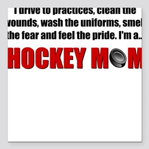 Hockey Mom Square Car Magnet