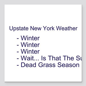 Upstate NY Weather Square Car Magnet