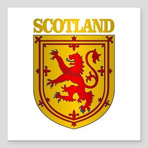 "Scotland (COA) Square Car Magnet 3"" x 3"""