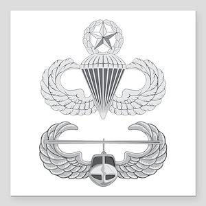 """Master Airborne Air Assa Square Car Magnet 3"""" x 3"""""""