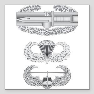 """CAB Airborne Air Assault Square Car Magnet 3"""" x 3"""""""