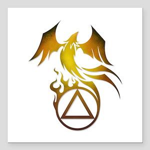 "A.A. Logo Phoenix - Square Car Magnet 3"" x 3"""