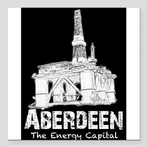 Aberdeen - the Energy Capital Square Car Magnet 3""