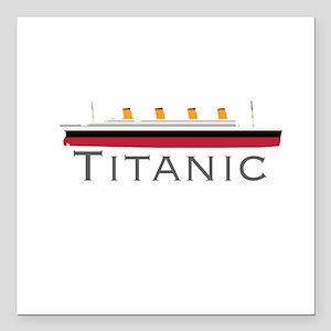 """Titanic Square Car Magnet 3"""" x 3"""""""