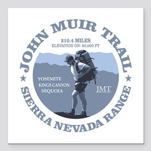 "John Muir Trail (rd) Square Car Magnet 3"" x 3"""