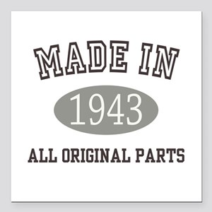 Made In 1943 All Original Parts Square Car Magnet