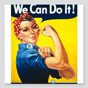 We Can Do It, Rosie the Riveter Square Car Magnet