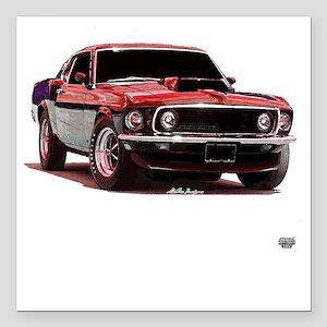 Mustang 1969 Square Car Magnet