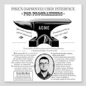 "Acme Pike Ad B&w Square Car Magnet 3"" X 3"