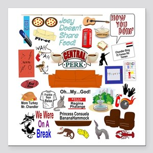 """Friends TV Show Gifts Square Car Magnet 3"""" x 3"""""""