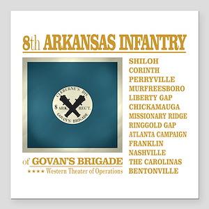 "8th Arkansas Infantry (BH2) Square Car Magnet 3"" x"