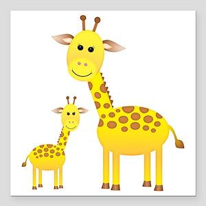 "Giraffe3 Square Car Magnet 3"" x 3"""