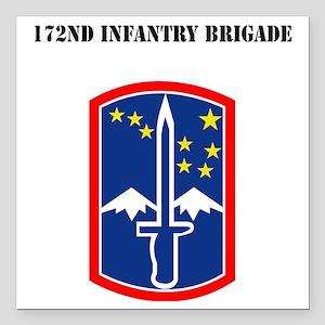 "SSI - 172nd Infantry Bri Square Car Magnet 3"" x 3"""