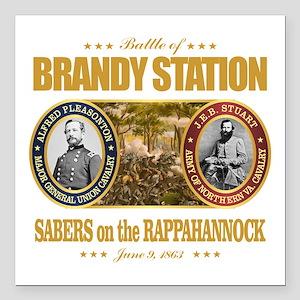 "Brandy Station (FH2) Square Car Magnet 3"" x 3"""
