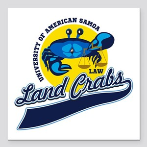 "Land Crabs Law Square Car Magnet 3"" x 3"""