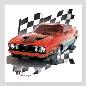 """73stang Square Car Magnet 3"""" x 3"""""""