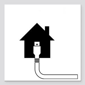 "IPV6 Home Sweet Home - D Square Car Magnet 3"" x 3"""