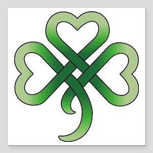 "celtic clover Square Car Magnet 3"" x 3"""