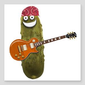 "Rocker Pickle Square Car Magnet 3"" x 3"""
