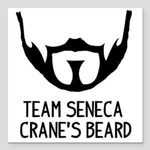 "Seneca Crane Square Car Magnet 3"" x 3"""