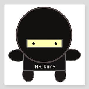 "ninja-big Square Car Magnet 3"" x 3"""
